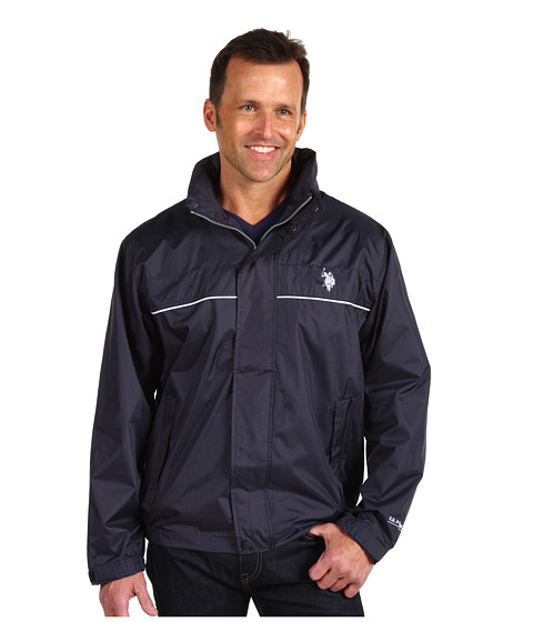 U.S. POLO ASSN. - Windbreaker with Piping (Classic Navy) Men's Coat