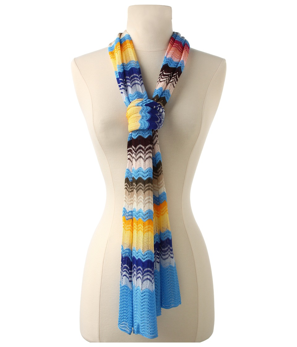 Missoni - Vanda Scarf (Steel Blue/Yellow) Scarves