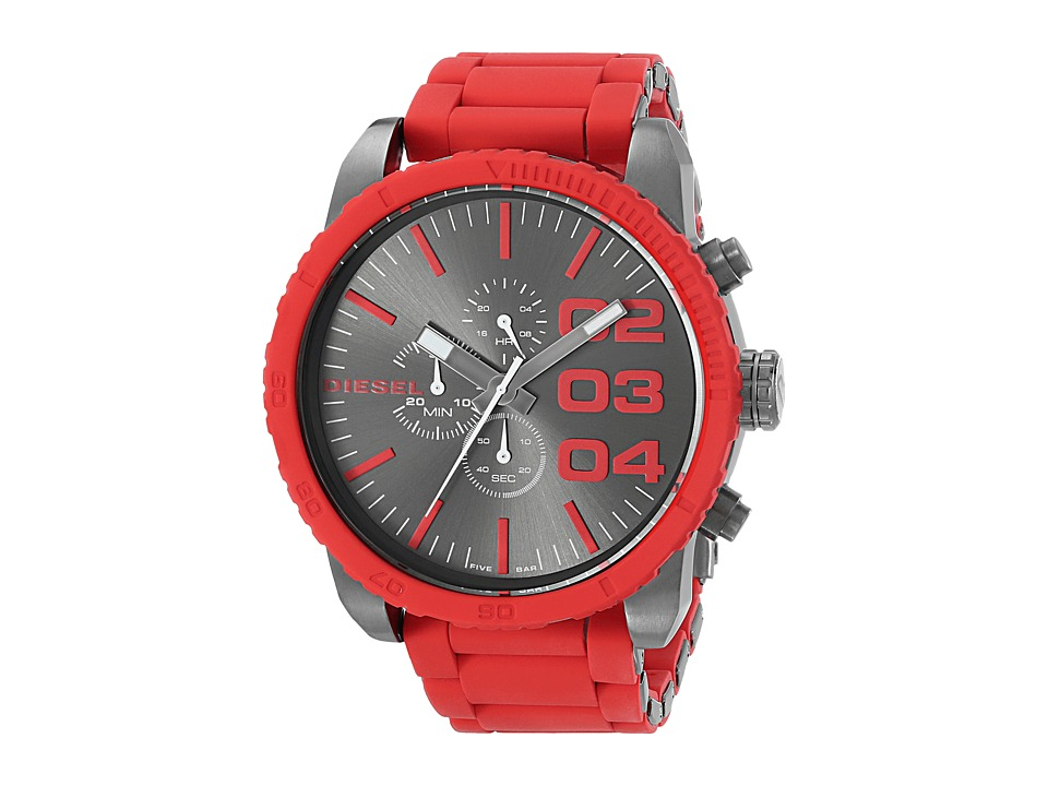 Diesel - DZ4289 Franchise Large Chronograph Watch (Red/Gunmetal) Analog Watches
