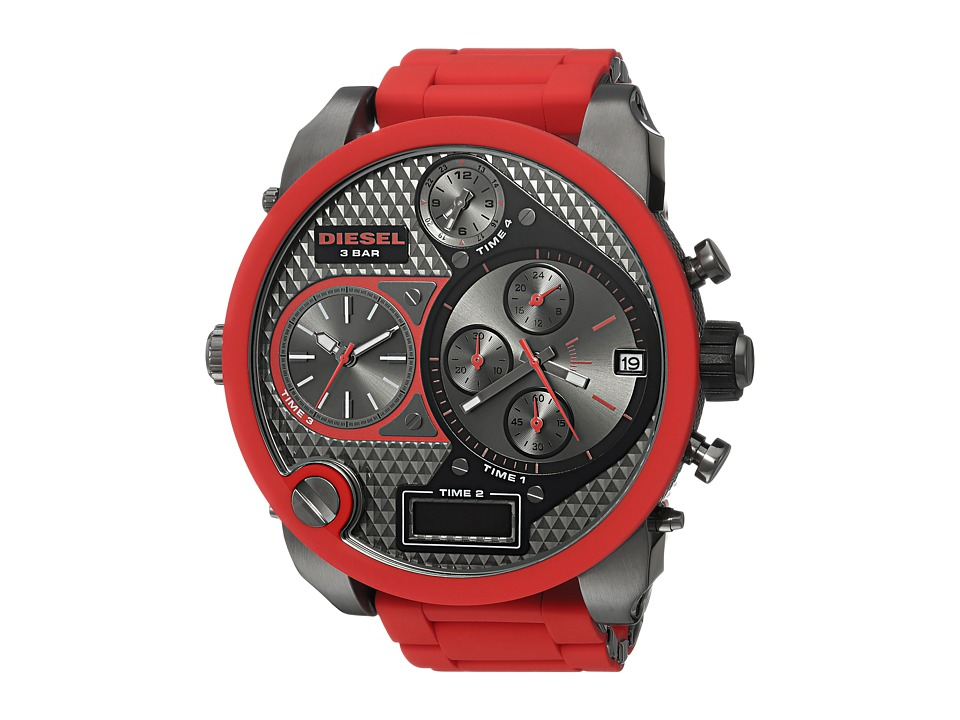 Diesel - DZ7279 SBA Time Zone Watch (Red/Gunmetal) Watches