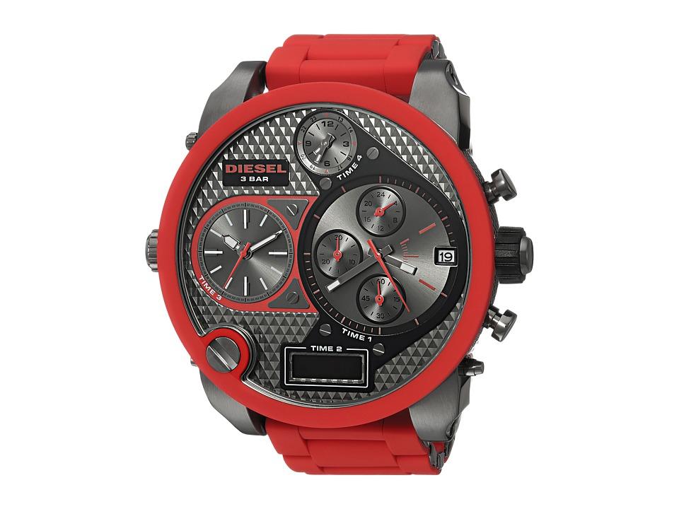 Diesel - DZ7279 SBA Time Zone Watch (Red/Gunmetal) Watches