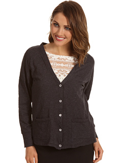 SALE! $16.99 - Save $51 on Allen Allen Drop Shoulder Slouch Cardigan (Black) Apparel - 75.01% OFF $68.00