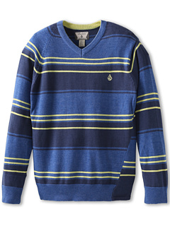 SALE! $14.99 - Save $30 on Volcom Kids Understated Stripe Sweater (Big Kids) (Vintage Blue) Apparel - 66.69% OFF $45.00