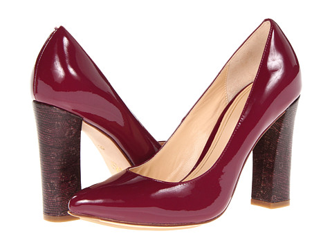 Cole Haan - Chelsea Block Heel Pump (Winery Patent/Ring Lizard Print) High Heels