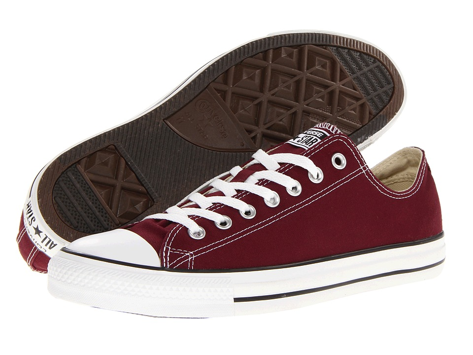 Converse - Chuck Taylor All Star Seasonal OX (Burgundy) Athletic Shoes