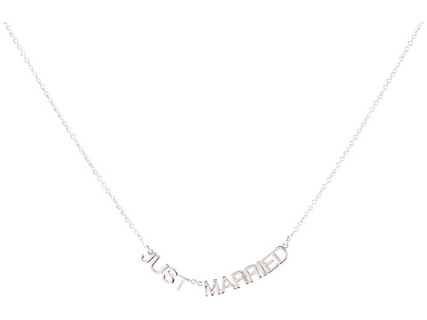 Kate Spade New York - Say Yes Just Married Necklace (Silver) Necklace
