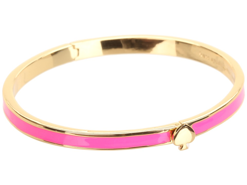Kate Spade New York - Spade Thin Hinge Bangle (Flo Pink) Bracelet