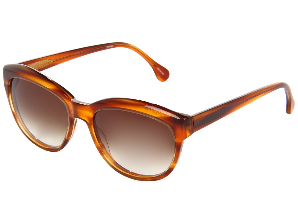 Elizabeth and James - Orchard (Shiny Caramel Horn/Brown Gradient Lens) Fashion Sunglasses