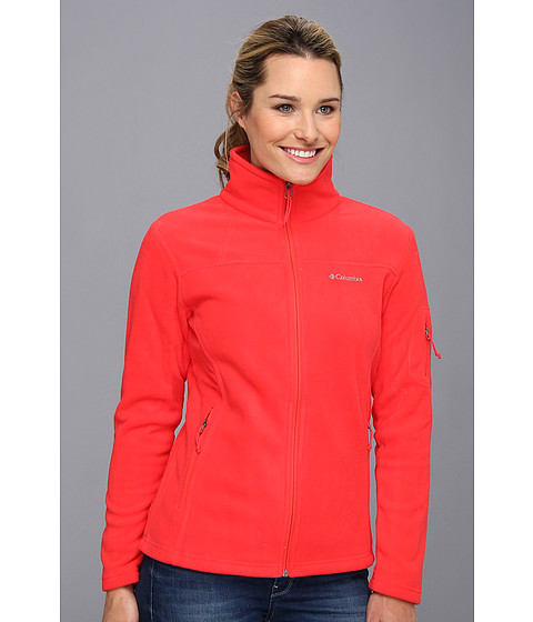 Columbia - Fast Trek II Full-Zip Fleece Jacket (Red Hibiscus) Women's Coat