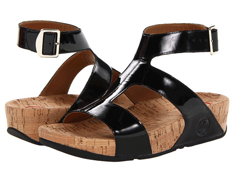 FitFlop - Arena Patent (Black Patent) Women's Sandals