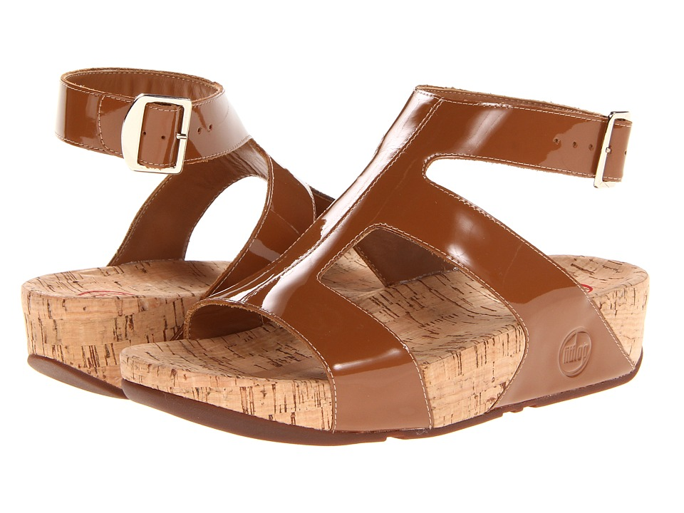FitFlop - Arena Patent (Tan Patent) Women's Sandals