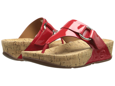 FitFlop - Via Patent (Red Patent) Women's Sandals