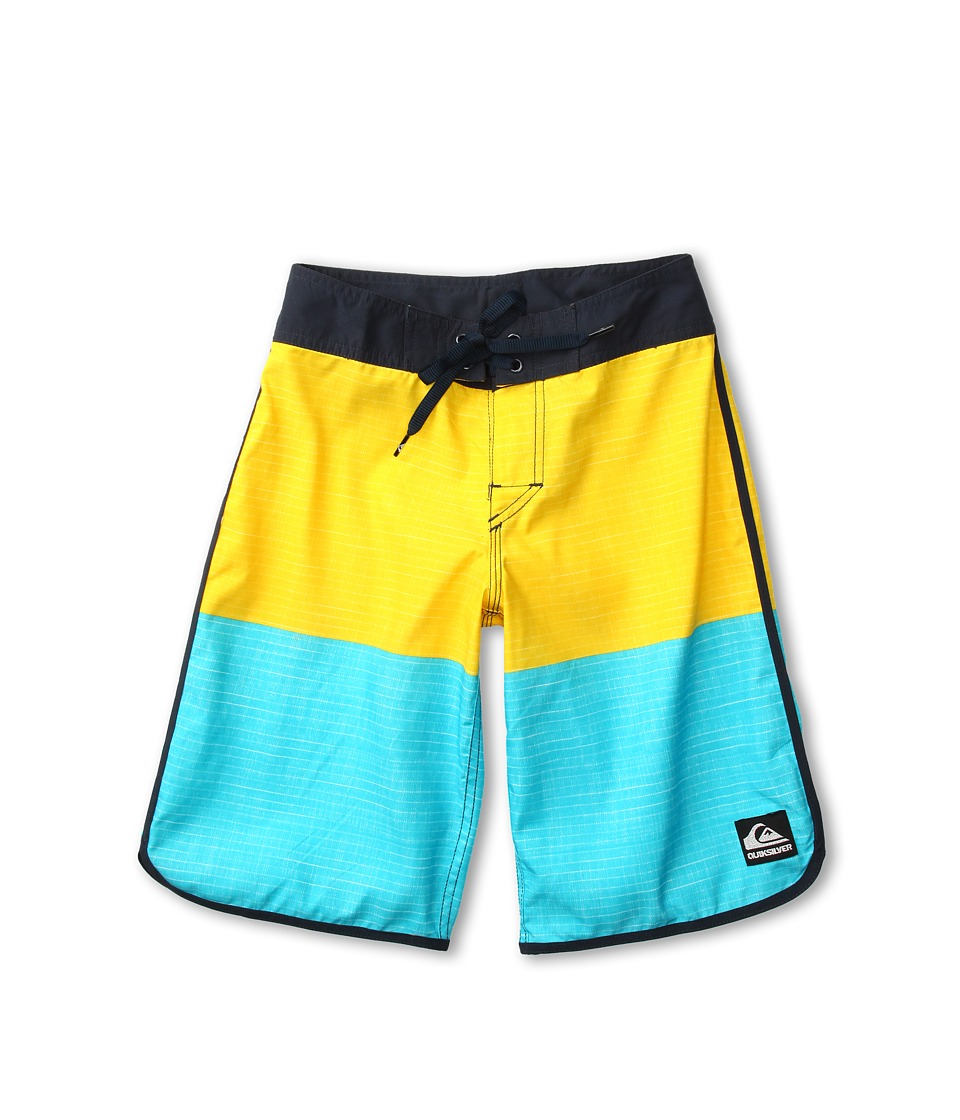 Quiksilver Kids Division Scallop Boardshort Boys Swimwear (Yellow)