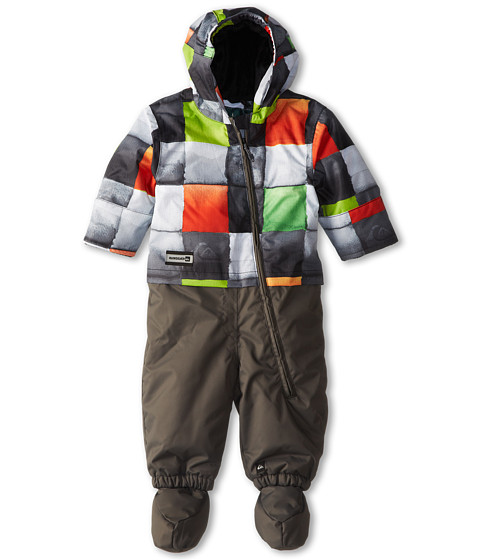 Quiksilver Kids - Little Rookie One-Piece Suit (Infant) (Redemption Check Greem/Dark Shadow) Boy