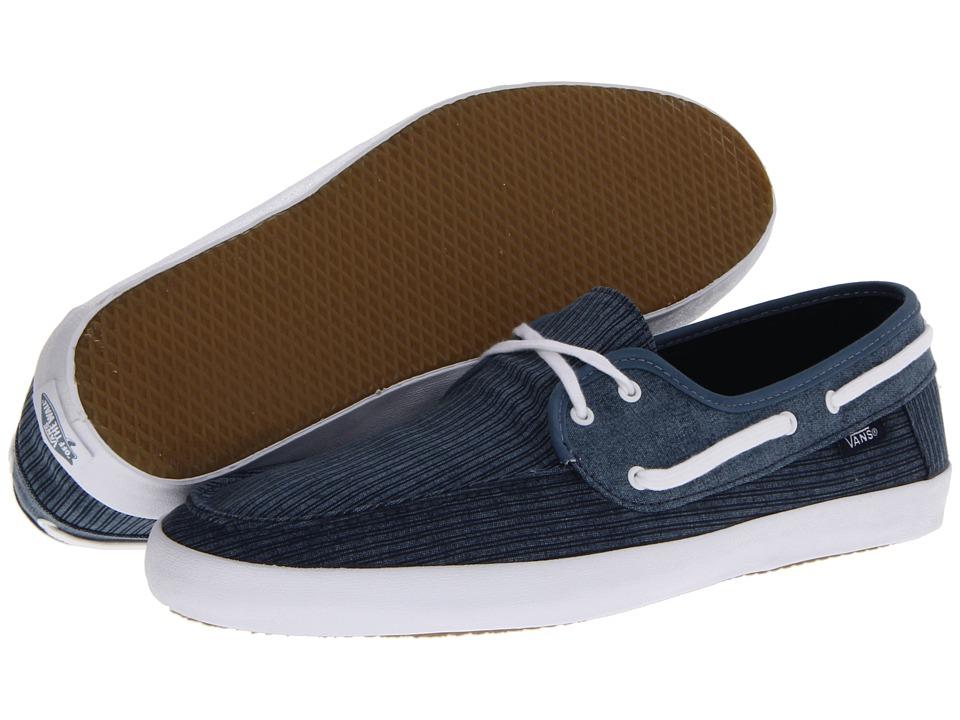 Vans - Chauffeur (Dress Blue/Stripes) Men's Skate Shoes