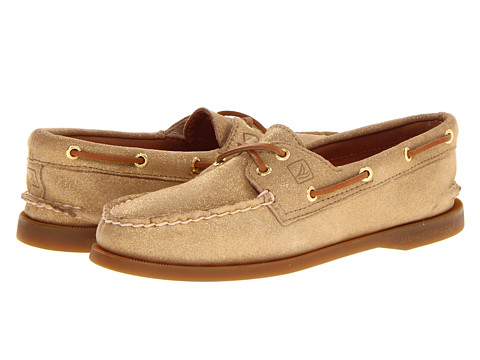 Sperry Top-Sider - A/O 2 Eye (Gold Sparkle Suede) Women's Lace up casual Shoes