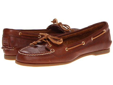 Sperry Top-Sider - Audrey (Tan Leather) Women's Slip on Shoes
