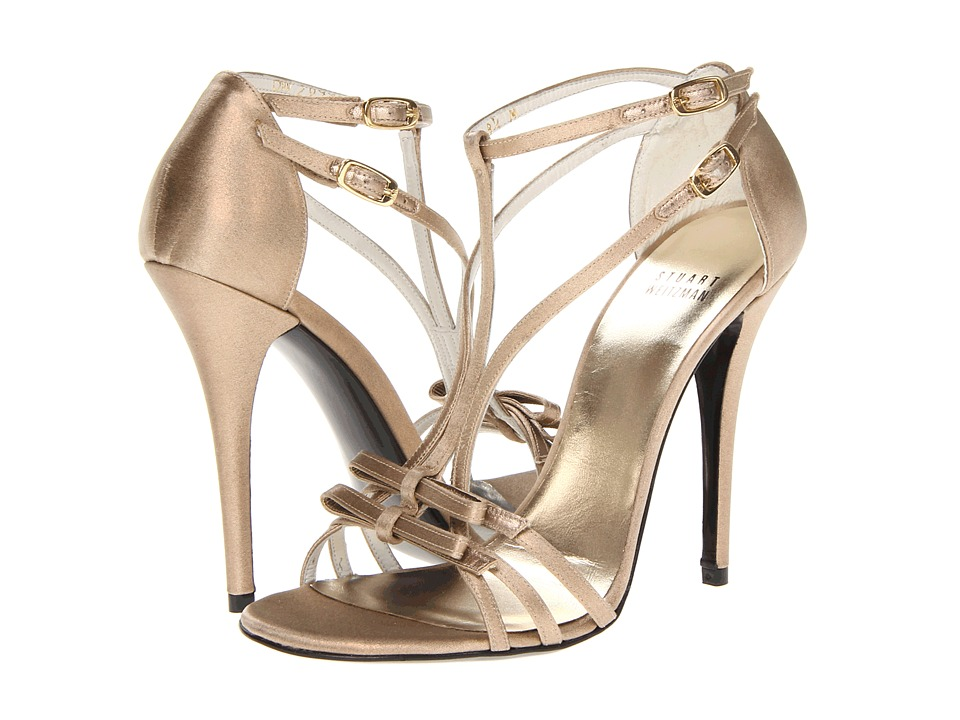 Stuart Weitzman Bridal & Evening Collection - Bow Goes Up (Brass Raso) High Heels