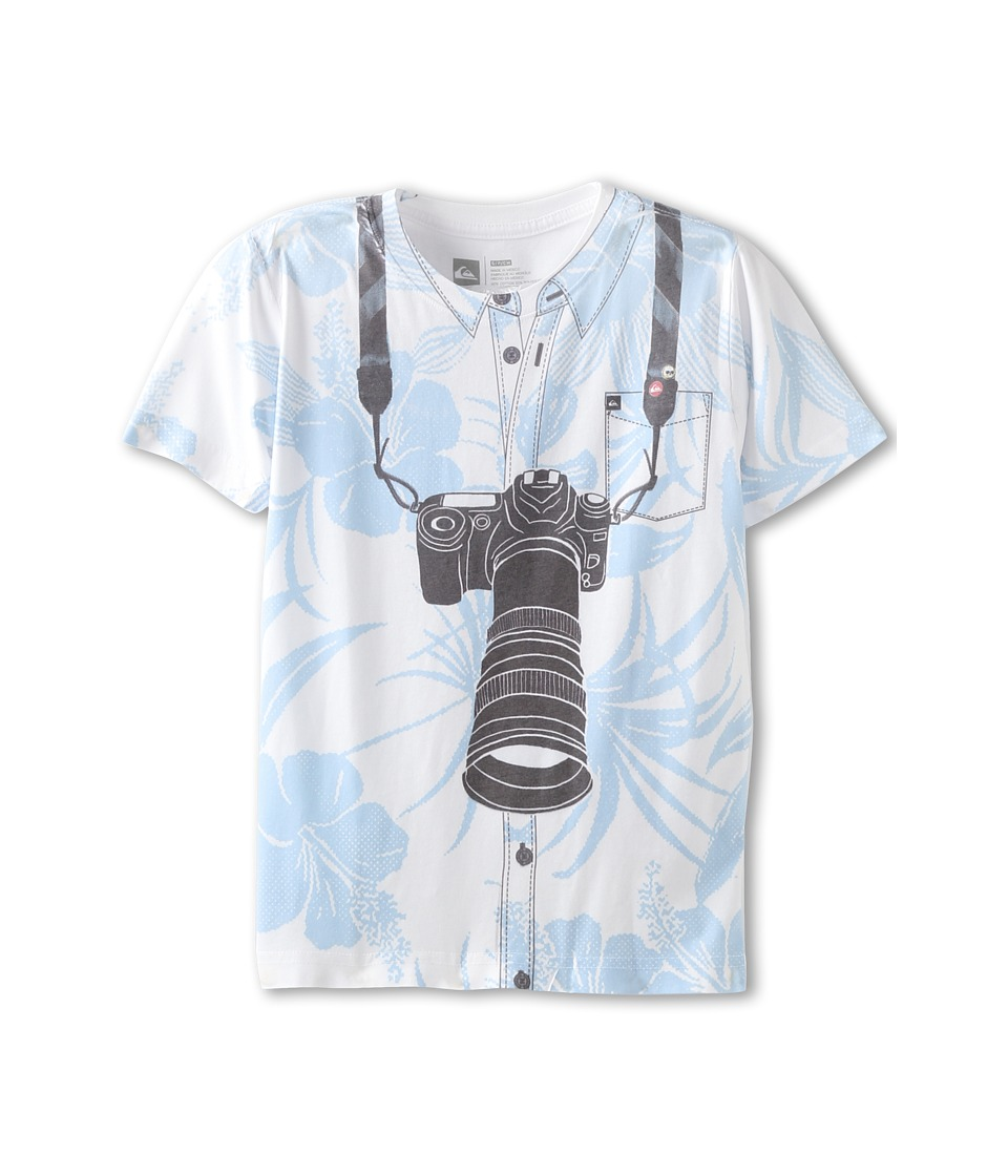 Quiksilver Kids Document S/S Tee Boys T Shirt (White)