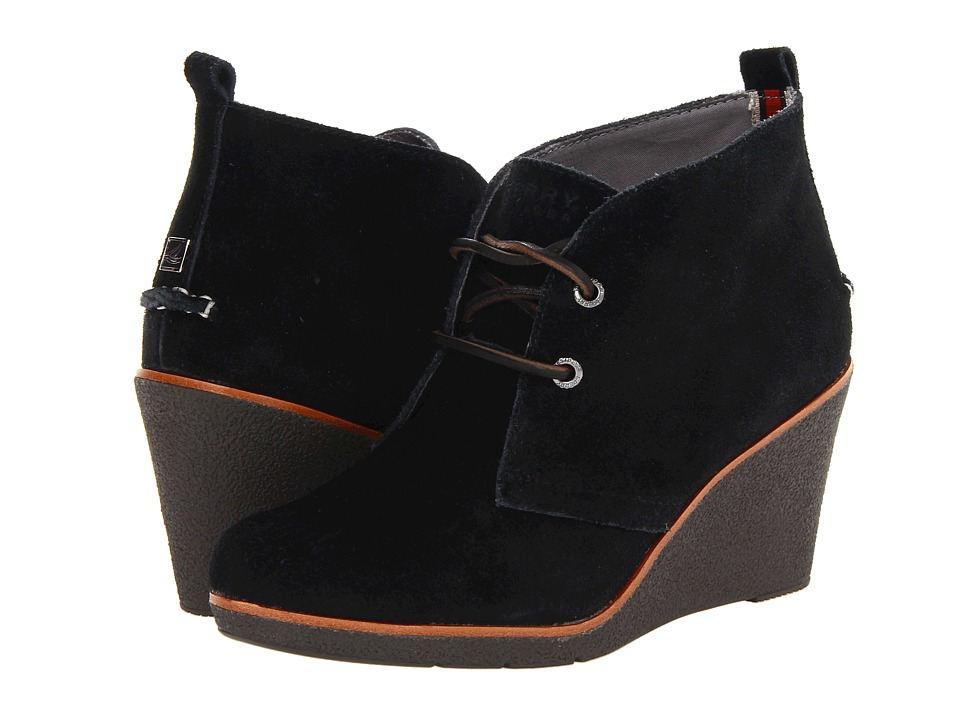 Sperry Top-Sider - Harlow (Black Suede) Women's Lace-up Boots