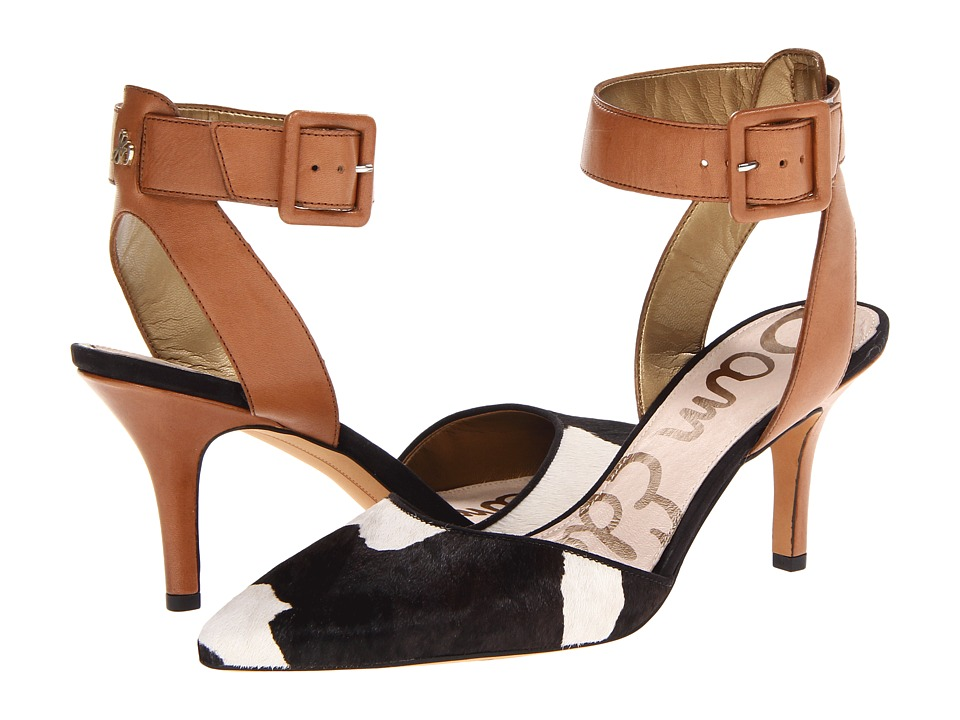 Sam Edelman - Okala (Saddle/Black/White Dress Calf Leather/CowPrint Brahma Hair) High Heels