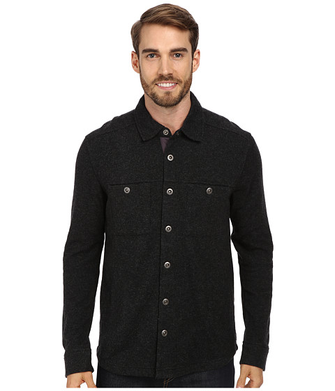 Toad&Co - Sidecar Overshirt (Black Heather/Smoke) Men's Long Sleeve Button Up