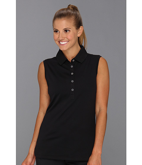 Nike Golf - Nike Victory Sleeveless Polo (Black/Black) Women