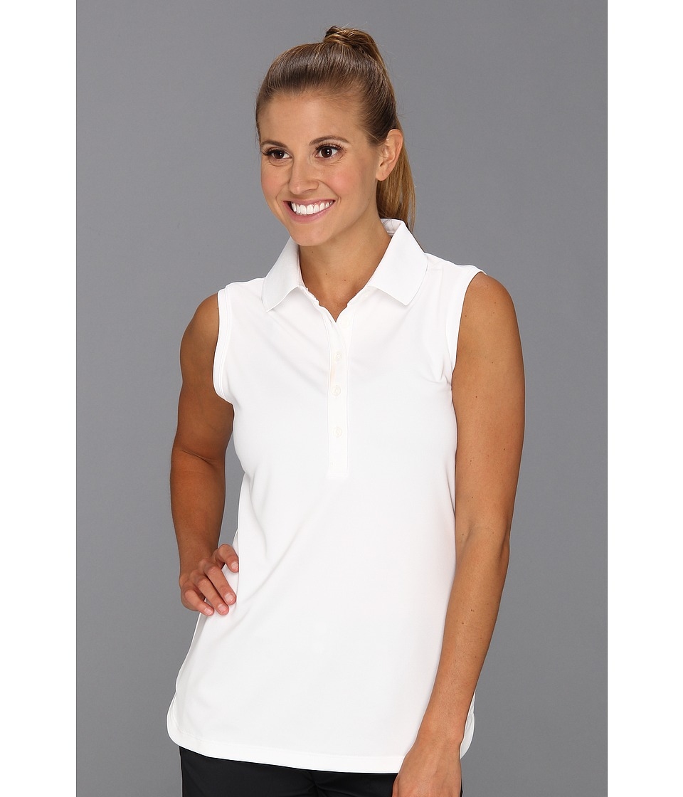 Nike Golf - Nike Victory Sleeveless Polo (White/White) Women's Sleeveless