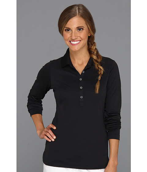 Nike Golf - Nike Victory L/S Polo (Black/Black) Women's Long Sleeve Pullover