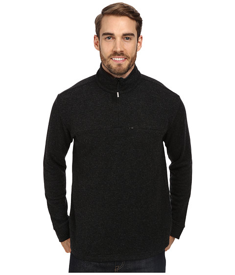 Toad&Co - Nightwatch 1/4 Zip (Black Heather/Smoke) Men's Long Sleeve Pullover