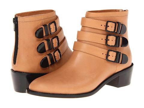 Loeffler Randall - Fenton (Sand/Black (Vachetta)) Women's Zip Boots