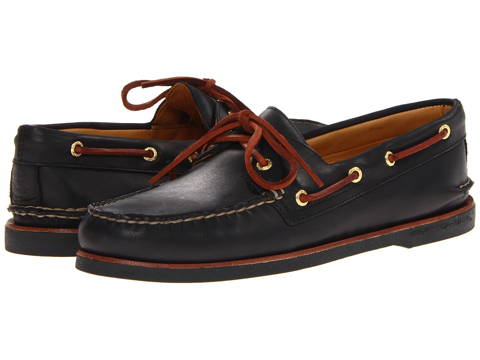 Sperry - Gold A/O 2-Eye (Black) Men's Slip on Shoes