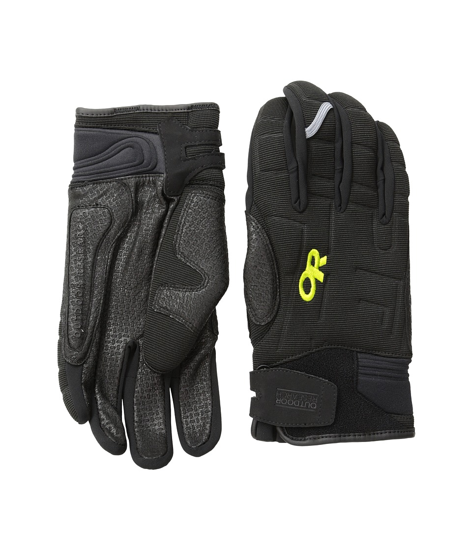 Outdoor Research - Alibi Li Gloves (Black/Lemongrass) Extreme Cold Weather Gloves