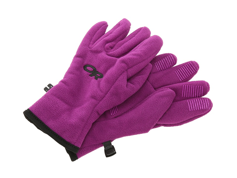 Outdoor Research - Fuzzy Gloves (Youth) (Orchid) Extreme Cold Weather Gloves