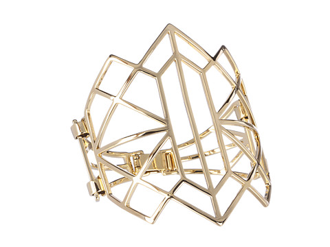 Juicy Couture Open Gold Geo Cuff (Gold) Bracelet