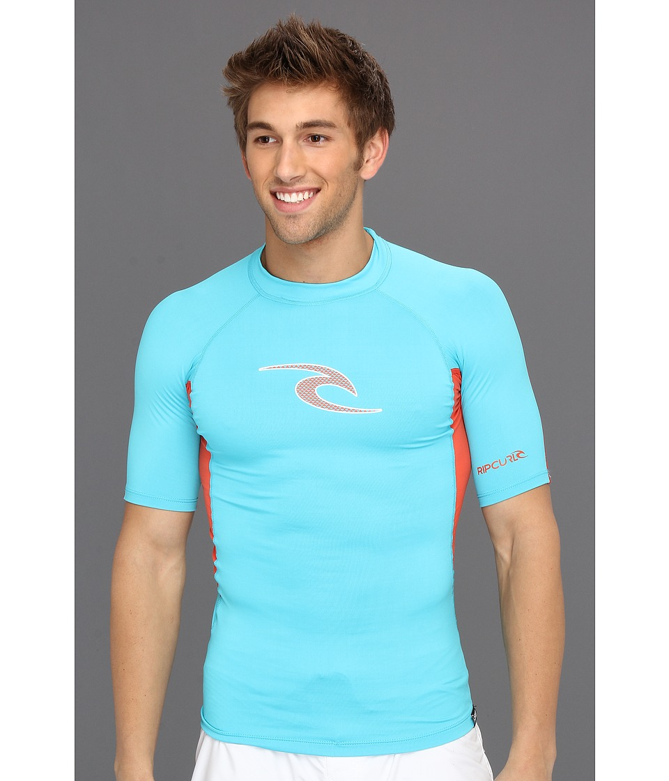 Rip Curl - Wave S/S (Neon Blue/Neon Red) Men's Swimwear