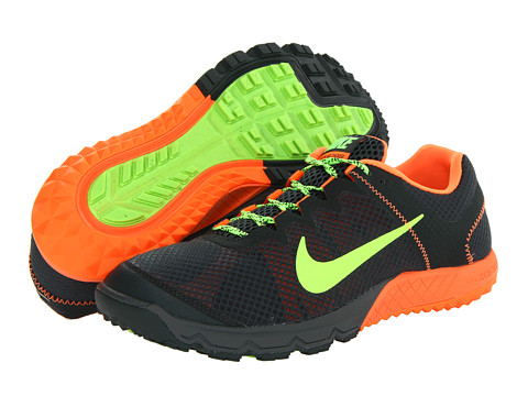 Nike - Zoom Wildhorse (Black Spruce/Total Orange/Flash Lime) Men's Running Shoes