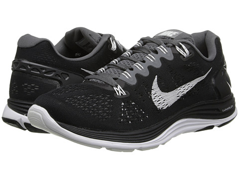 Nike - Lunarglide+ 5 (Black/Dark Grey/White) Women