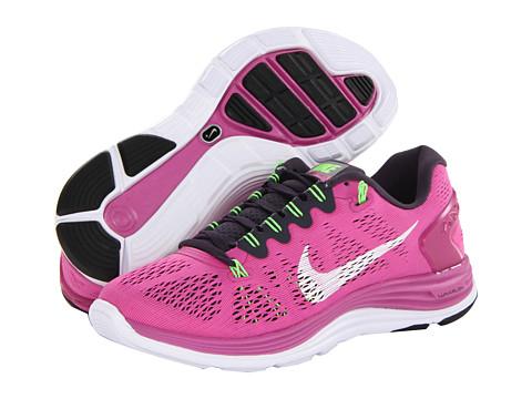 Nike Lunarglide+ 5 (Club Pink/Gridiron/Flash Lime/White) Women's Running Shoes