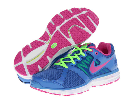 Nike Lunar Forever 2 (Distance Blue/Flash Lime/White/Club Pink) Women's Running Shoes