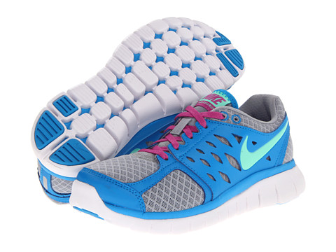 Nike - Flex 2013 Run (Wolf Grey/Blue Hero/Club Pink/Green Glow) Women's Running Shoes