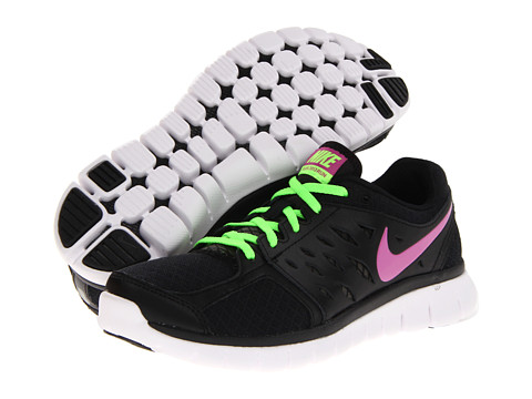 Nike Flex 2013 Run (Black/Flash Lime/White/Club Pink) Women's Running Shoes