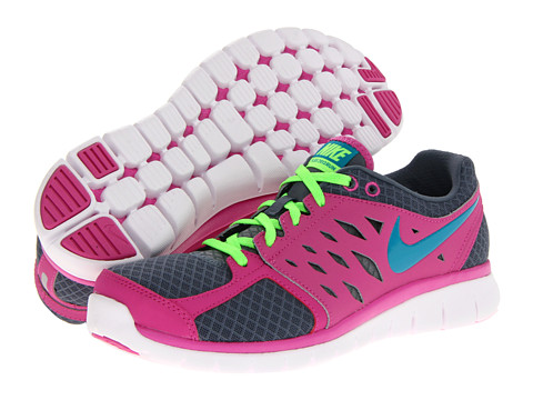 Nike Flex 2013 Run (Armory Slate/Club Pink/Flash Lime) Women's Running Shoes