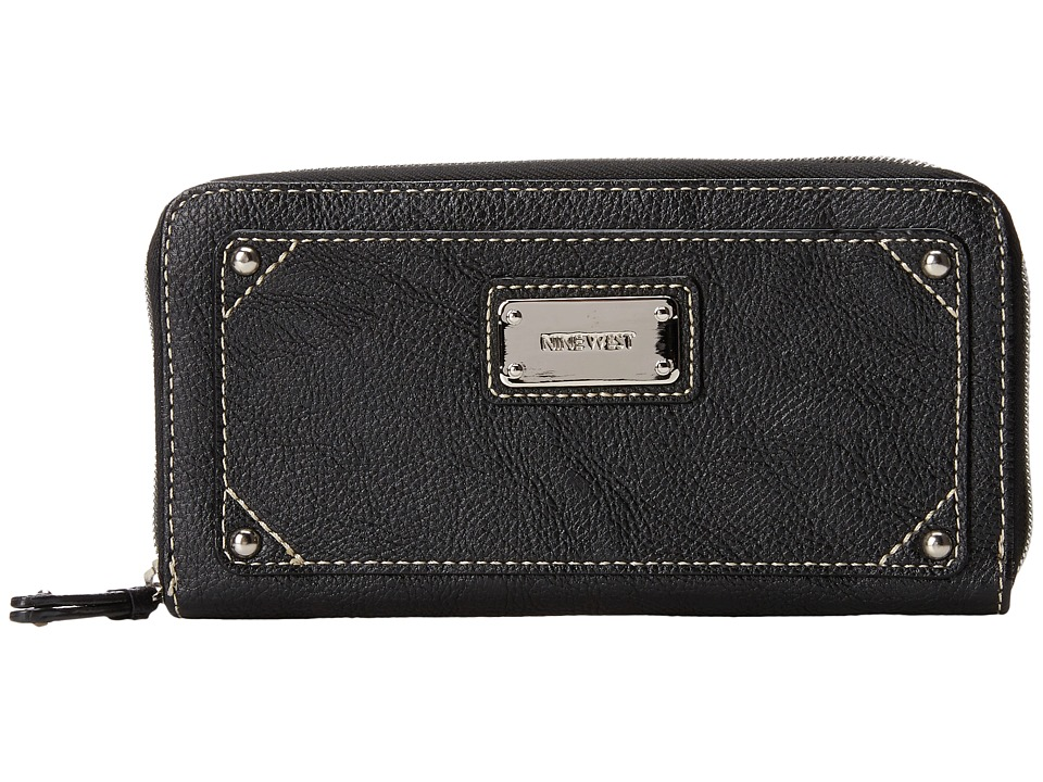 Nine West - Table Treasures Zip Around (Black) Clutch Handbags