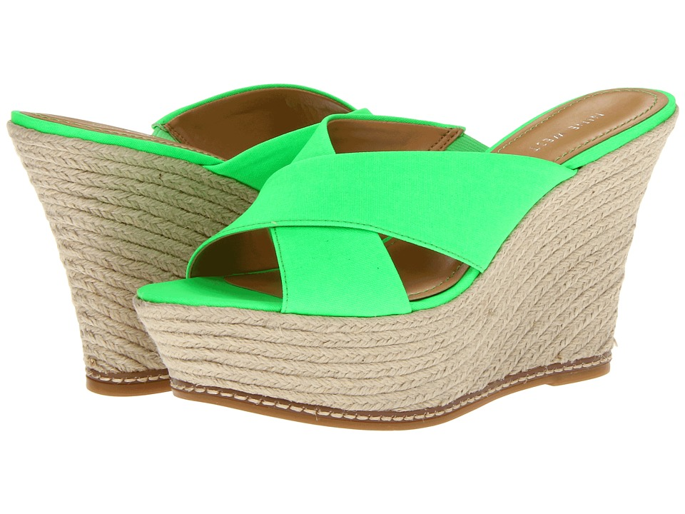 Nine West - Dashall (Green Fabric) Women's Wedge Shoes
