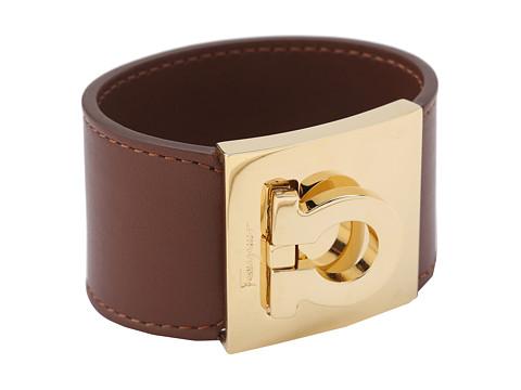 Salvatore Ferragamo - Gancini Cuff Bracelet (Acero/Oro) Bracelet