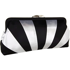 SALE! $101.99 - Save $80 on Franchi Handbags Ileana Clutch (Black Silver) Bags and Luggage - 43.96% OFF $182.00