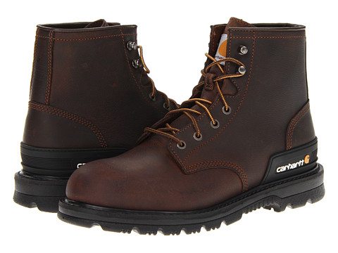 Carhartt - 6 Unlined Work Boot (Dark Brown Oil Tan) Men's Work Boots