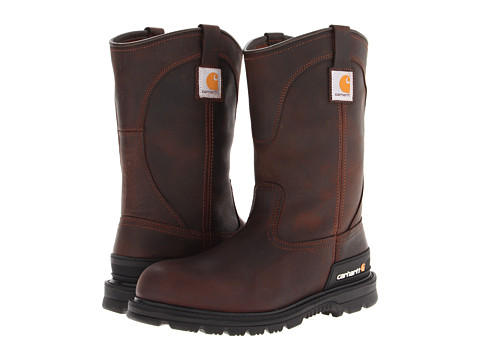 Carhartt - Wellington Unlined Boot (Dark Brown Oil Tan) Men's Work Boots