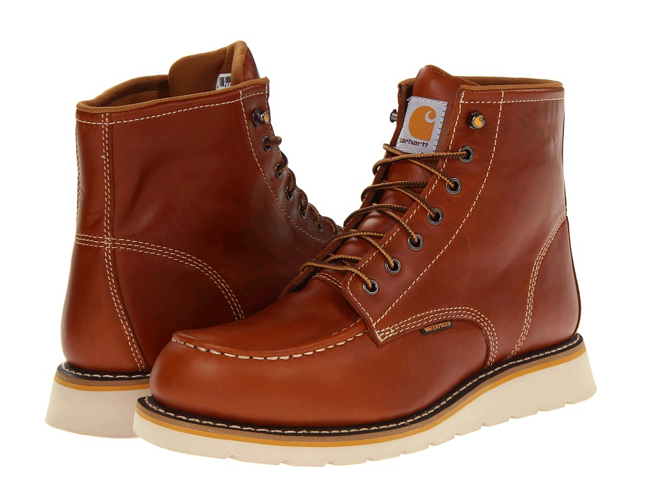 Carhartt - 6 Moc Toe Wedge Boot (Tan) Men's Work Boots